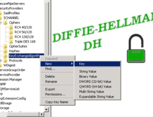 DESATIVAR O DIFFIE-HELLMAN (DH) PCI DSS