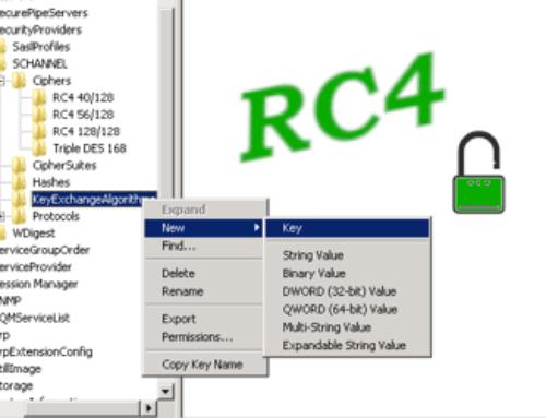 DESATIVAR O RC4 PCI DSS